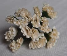 OFF WHITE STATICE / LIMONIUM gypso Mulberry Paper Flowers