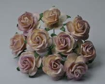 PALE DUSKY PINK ROSES (2.0 cm) Mulberry Paper Roses (Previously known as 2.5 cm)