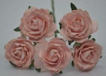 PALE PINK ENGLISH (2.5-2.7 cm) Mulberry Paper Roses