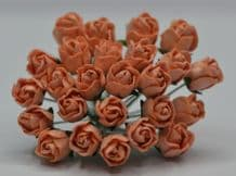 PEACH HIP ROSE BUDS Mulberry Paper Flowers
