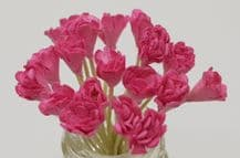 PINK GYPSOPHILA / FORGET ME NOT (Single Layer) Mulberry Paper Flowers
