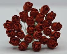 RED HIP ROSE BUDS Mulbery Paper Flowers