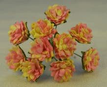 ROSE PINK ASTER Daisy (1.3 cm) Mulberry Paper Flowers
