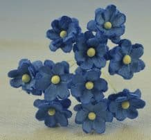 ROYAL BLUE CHERRY BLOSSOM Mulberry Paper Flowers