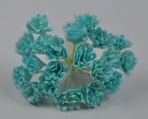 SEA BLUE GREEN GYPSOPHILA / FORGET ME NOT Mulberry Paper Flowers