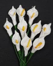 WHITE CALLA LILY aka ARUM LILY Mulberry Paper Flowers
