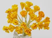 YELLOW GYPSOPHILA / FORGET ME NOT (Single Layer) Mulberry Paper Flowers