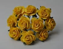 YELLOW ROSES (2.0 cm) Mulberry Paper Roses