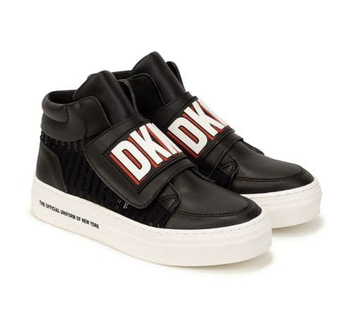 DKNY AW21 Girls Black/Red Boots