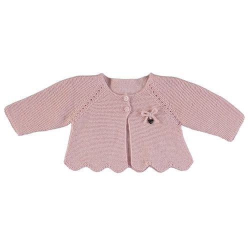 Mayoral AW20 Infant Blush Knit Cardigan 2.333 045