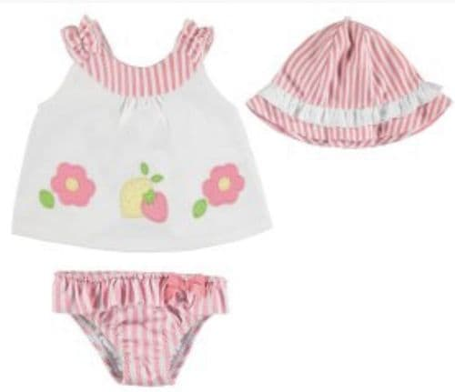 Mayoral SS19 Infant Bathsuit set with hat Sirope