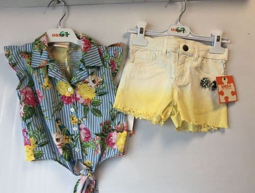 UBS2 SS19 Girls Yellow Shorts & Blouse