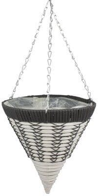 """Emie Shan All Weather Hanging Basket Cone 14"""""""