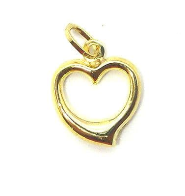 9ct Gold Open Heart Pendant / Charm                                        71260
