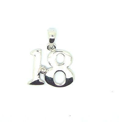 9ct White Gold Diamond Set 18 / 21 Pendant                                  853F