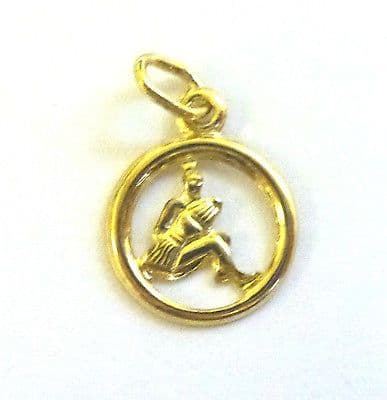 9ct Yellow Gold 12mm Cutout Zodiac Pendant/Charm                          A89270