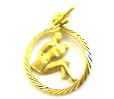 9ct Yellow Gold 14mm Cutout Zodiac Pendant                                A89289