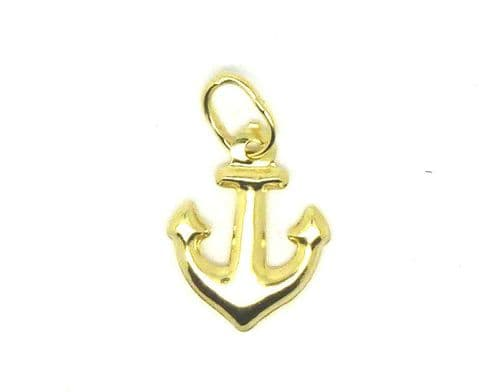 9ct Yellow Gold Anchor Charm        4043