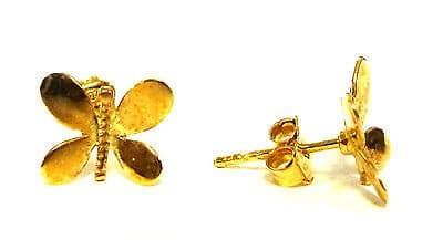 9ct Yellow Gold Butterfly Studs                                           A22220