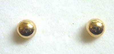 9ct Yellow Gold Button Studs Available in Three Sizes