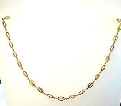 9ct Yellow Gold Cage Link Fancy Necklace