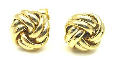 9ct Yellow Gold Double Four Way Knot Stud Earrings                          6219