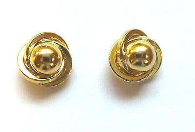 9ct Yellow Gold Fancy Knot  Studs                                         A58390