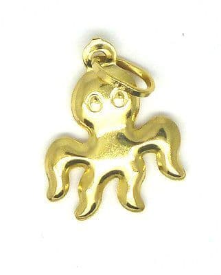 9ct Yellow Gold Octopus Charm                                               4053