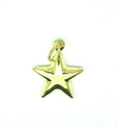 9ct Yellow Gold Plain Star Pendant / Charm                  2023