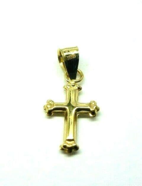 9ct Yellow Gold Small Cross Pendant / Charm                 1503