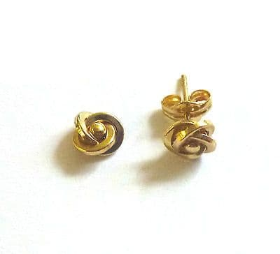 9ct Yellow Gold Small Fancy Knot  Studs                                   A58387