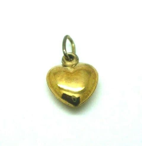 9ct Yellow Gold Small Heart Charm                                        0013