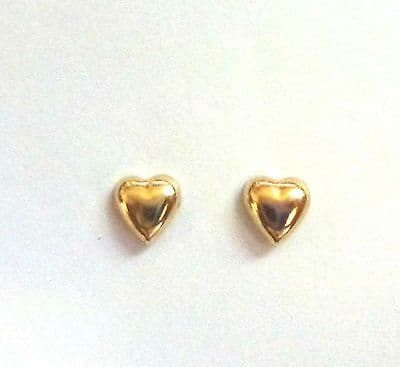 9ct Yellow Gold Small  Heart Studs                                        A58337