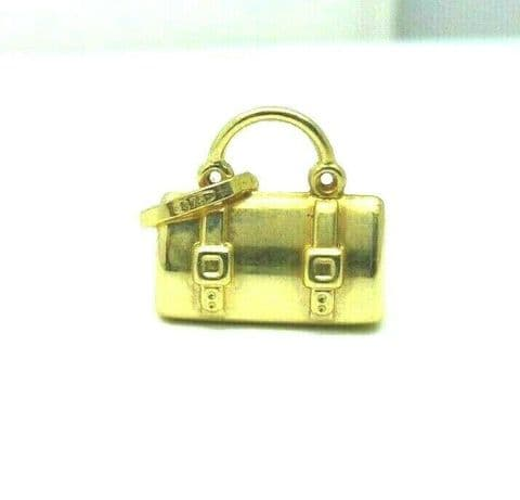 9ct Yellow Gold Travel Holdall Bag Charm                                    5153