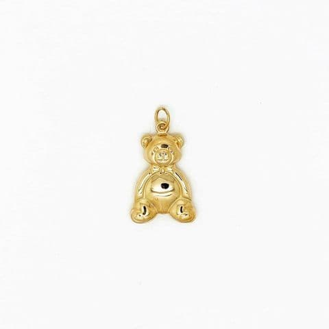 Genuine 9 Carat Yellow Gold Hallmarked Large Teddy Bear Pendant