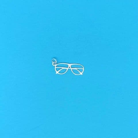 Genuine 925 Plain Sterling Silver Spectacles / Glasses / Optician  Charm