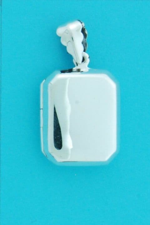 Genuine 925 Sterling Silver 20mm x 17mm Cushion Shaped Plain Locket Pendant
