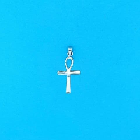 Genuine 925 Sterling Silver 26mm x 16mm Polished Ankh Pendant