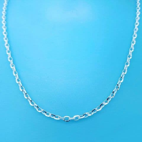 Genuine 925 Sterling Silver Diamond Cut Belcher Chain Available In Diff Lengths