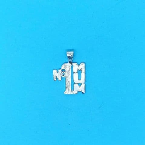 Genuine 925 Sterling Silver Number One Mum Mothers Day Pendant
