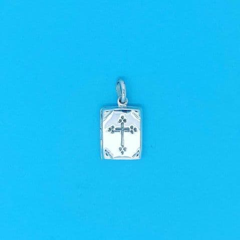 Genuine 925 Sterling Silver Opening Holy Bible Charm Pendant