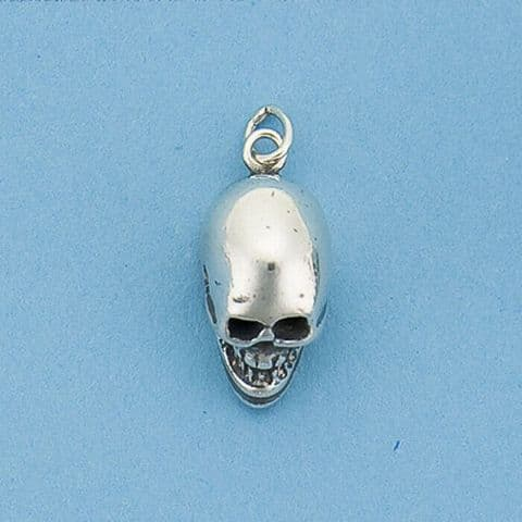 Genuine 925 Sterling Silver Skull Pendant available in SML, MED , and LARGE