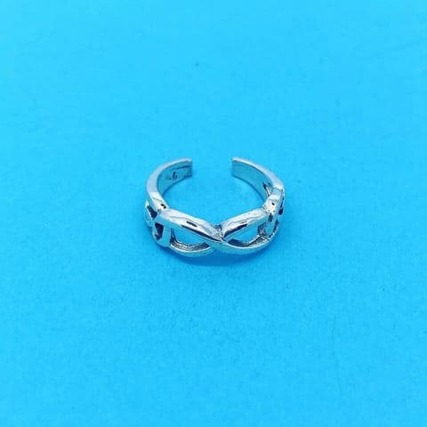 Genuine Sterling Silver Celtic Knot / Infinity Design Toe Ring One Size Fits All