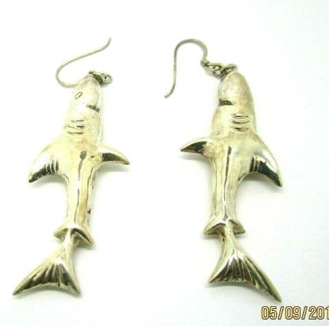 Sterling Silver 925 Jaws Shark drop Earrings