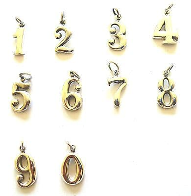 Sterling Silver 925 Lucky Number Pendant