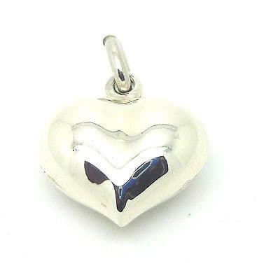 Sterling Silver 925 Puff Heart Pendant