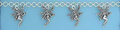 Sterling Silver  Bracelet with Five Fairy Drops                           B13891