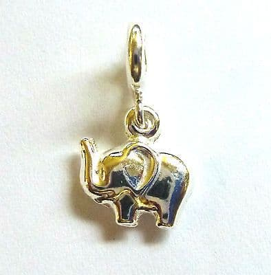 Sterling Silver Clip on Elephant Charm                                    B83385