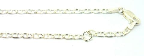 Sterling Silver  Diamond Cut Marine/ Anchor Link Ankle Chain             A41594