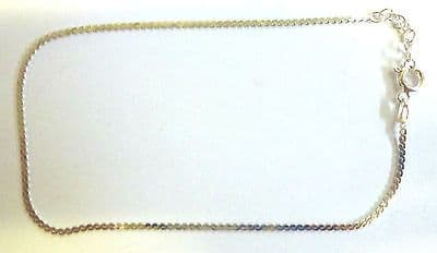 Sterling Silver Serpentine Chain Link Ankle Chain / Anklet                A40204